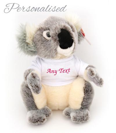 personalised koala teddy with t-shirt
