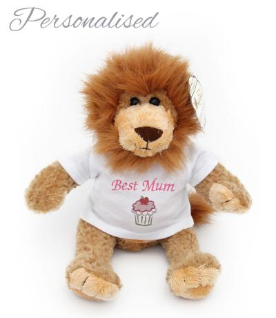 Personalised Animal Soft Toy, Lion