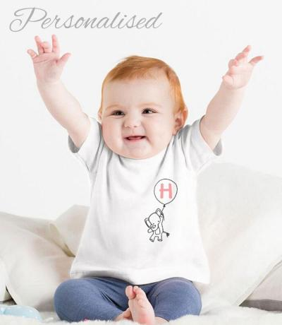 baby tee with initial