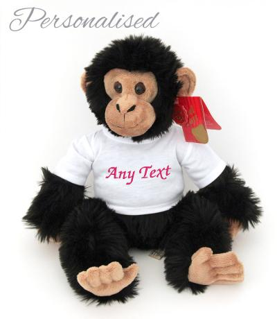personalised monkey soft toy with T-shirt