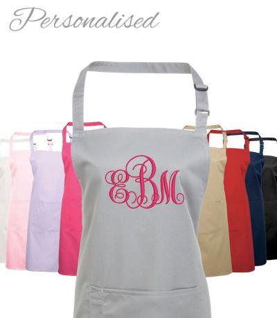 personalised monogrammed aprons