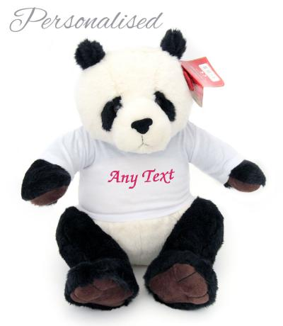 personalised panda soft toy with t-shirt