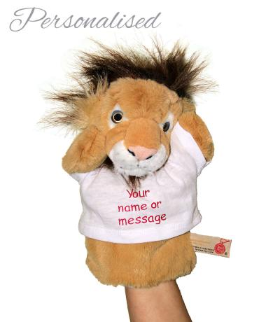 Personalised Hand Puppet, Leo The Lion