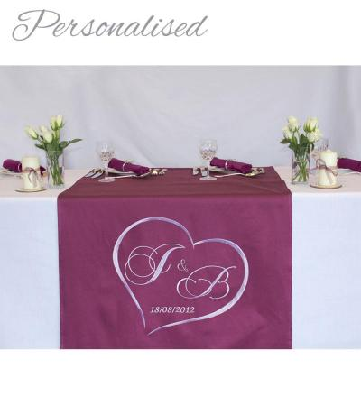 Personalised Embroidered Wedding Table Runner