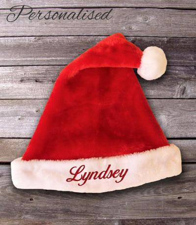Personalised Plush Santa Hat
