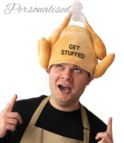 Personalised Christmas Turkey Hat