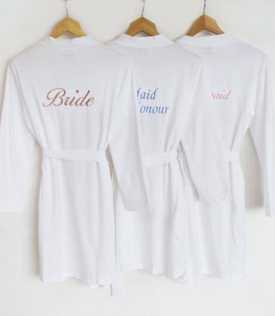 personalised wedding bathrobes