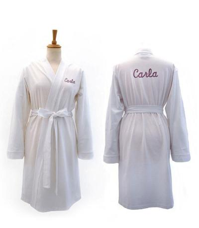 9093d95ec9 Personalised Dressing Gowns. white jersey gowns