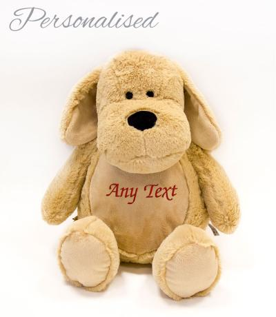Personalised Large Zippie Dog