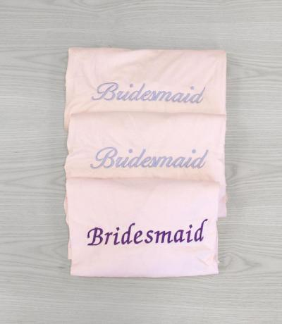 Personalised Bridesmaid Pink Dressing Gown