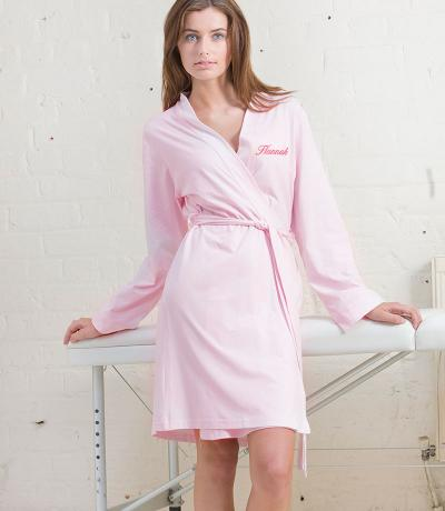 pink wedding dressing gowns