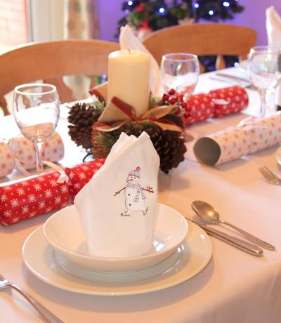 printed christmas fabric napkins