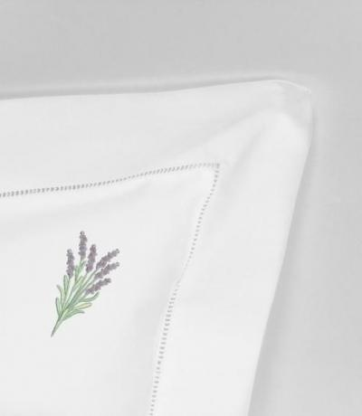 vintage pillow cases with embroidered lavender