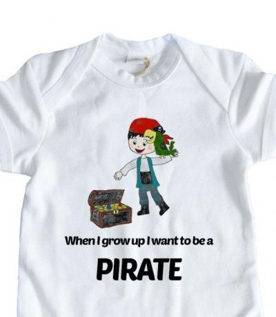 pirate babygrow