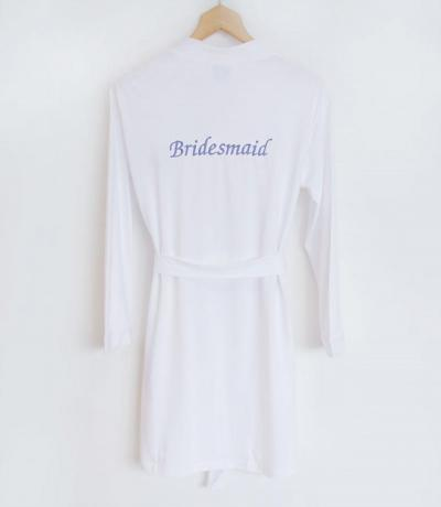 personalised bridesmaid dressing gown