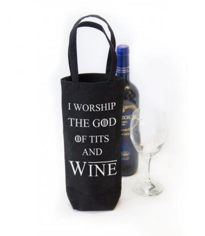 I worship God of tits and wine