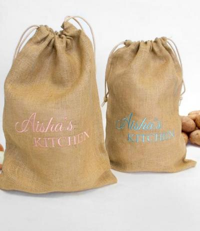 personalised potatoe bag