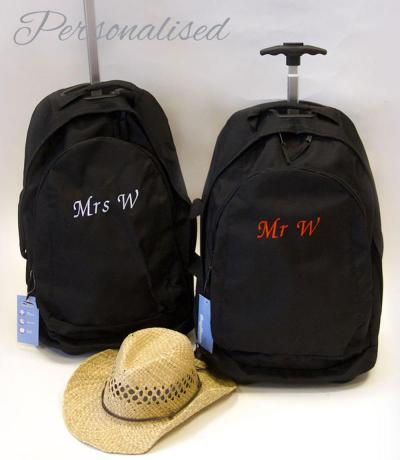personalised Mr & Mrs honeymoon Bags