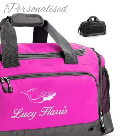 personalised girls swimming holdall bag