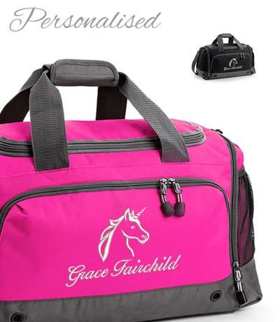 Personalised Unicorn Holdall Bag