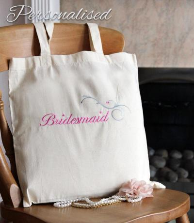 personalised bridesmaid bag