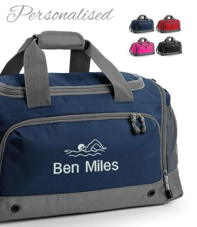 Personalised Embroidered Swimmer Holdall Bag
