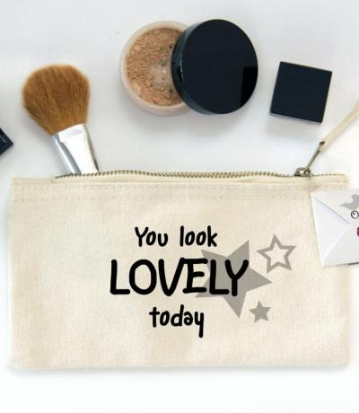 You Look Lovely Today, Zipper Canvas Make-up Bag