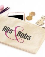 Bits and Bobs Zipper Canvas Pouch Bag