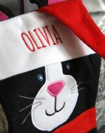 cat stocking with names