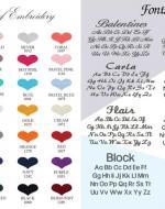 Colour & Font Chart