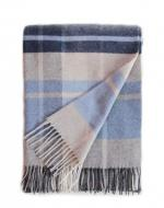 Navy, Light Blue and Grey Blanket