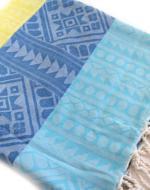 Blue striped towel