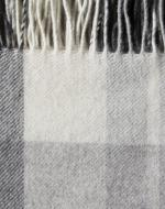 Light Grey, Black and White Cashmere Blanket