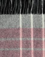 Pink and Grey Check Blanket