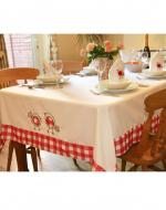 easter dining, gingham tablecloth