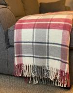 Pink & Grey Check Blanket