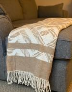 Beige & Cream Chevron Blanket