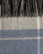 Blue and Grey Check Blanket