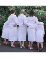 Personalised Bridesmaid Waffle Dressing Gown