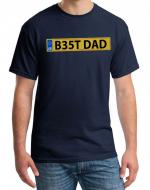 Best Dad Father's Day T-shirt, Number Plate Design