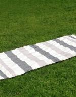 Personalised Black Grey Beach Towel, Bamboo Cotton