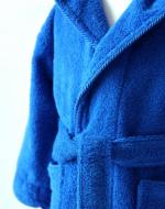 Royal Blue Bathrobe Close Up