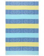 Blue and Yellow striped towel
