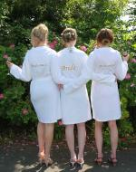 Personalised Bride White Dressing Gown