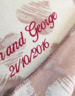 2nd anniversary cotton gift blanket