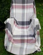 Pink Check Picnic Blanket