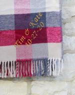 Red, Grey & Beige Blanket