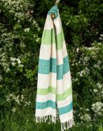 Personalised Teal Green Beach Towel, Bamboo Cotton