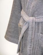 Personalised Bathrobe, Dressing Gown - Grey
