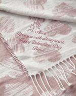 2nd anniversary cotton gift for her, pink blanket